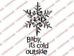Visible Image Baby its Cold Christmas stamp set