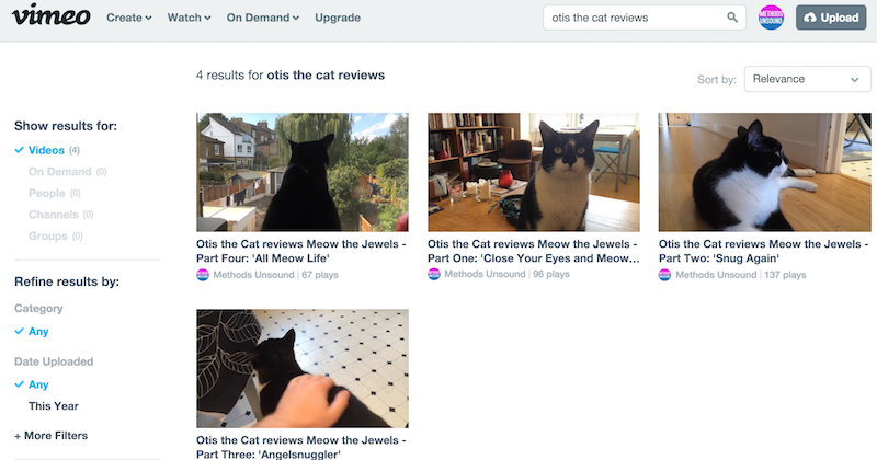 otis the cat reviews in videos on Vimeo