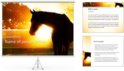 Elite Horse PowerPoint Template