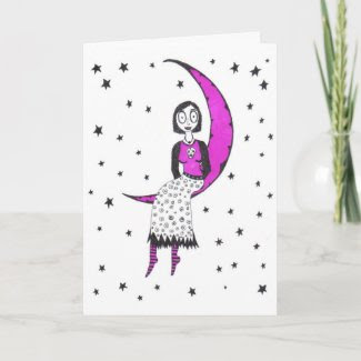 Creepy over the moon and stars cards