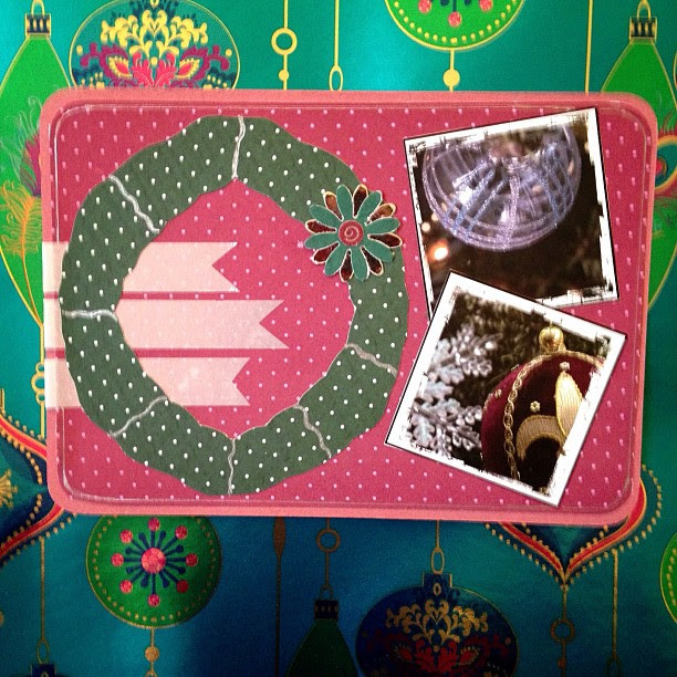 #wreaths #washitape #christmas #postcard #snailmail