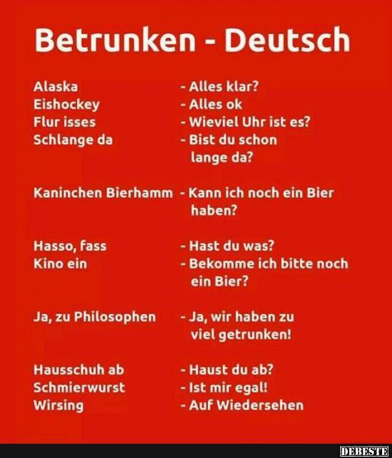 Betrunken Deutsch Lustige Bilder Sprüche Witze Echt Lustig