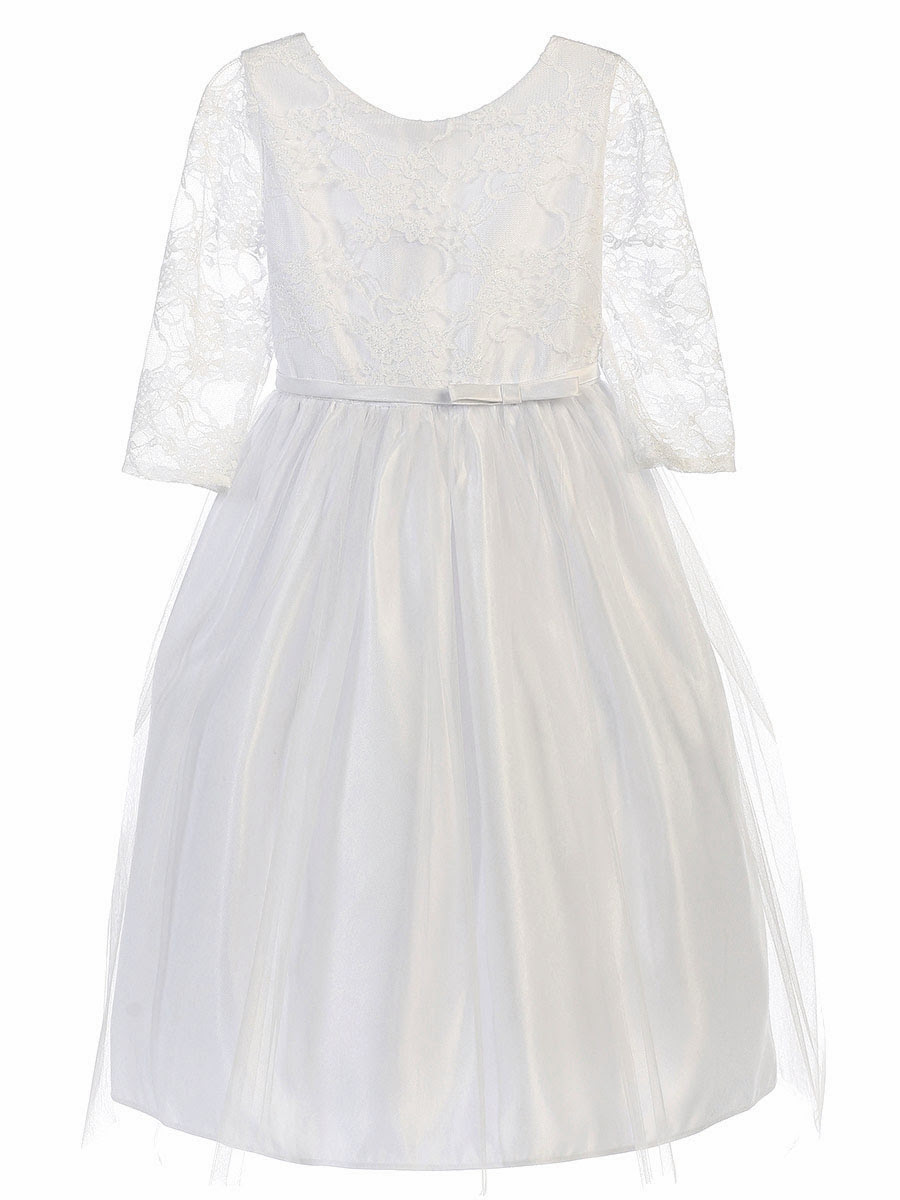 Tea length lace dresses with sleeves