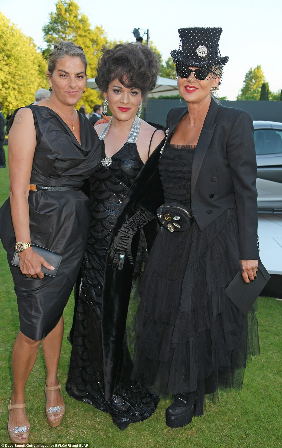 Getting chic done: (L to R) Tracey Emin, Evie Lake and Amanda Eliasch posed for photos together
