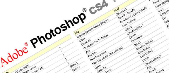 Adobe Photoshop CS4 Keyboard Shortcuts