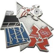 London 2012 Olympics Mascot Diving Pin