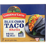 Garden of Eatin' Blue Corn Taco Shells - Blue Corn - Case of 12 - 5.5 oz.
