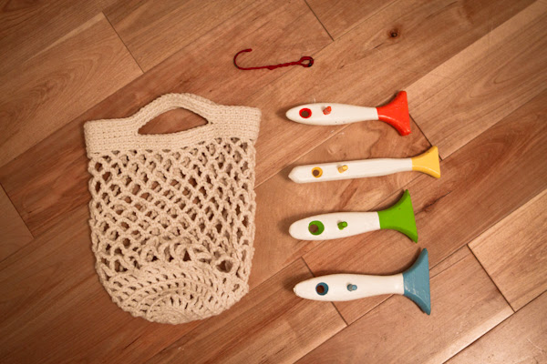 crochet bag for fish toy