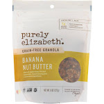 Purely Elizabeth Grain-Free Granola - Banana Nut Butter - 8 Ounce -PACK 6
