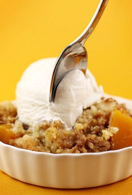 Peach Crumble With Cake Mix