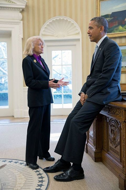 President Obama Releases Statement on the Death of Edith Windsor #hero #equality #lovewins #edithwindsor...