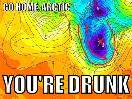 Why the Arctic is drunk right now