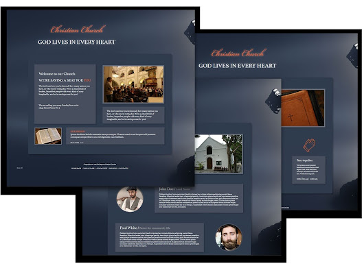 Church Adobe Muse website template