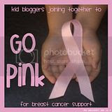 Go Pink Blog Hop, Kid Bloggers Joining Together to Go Pink for Breast Cancer Support