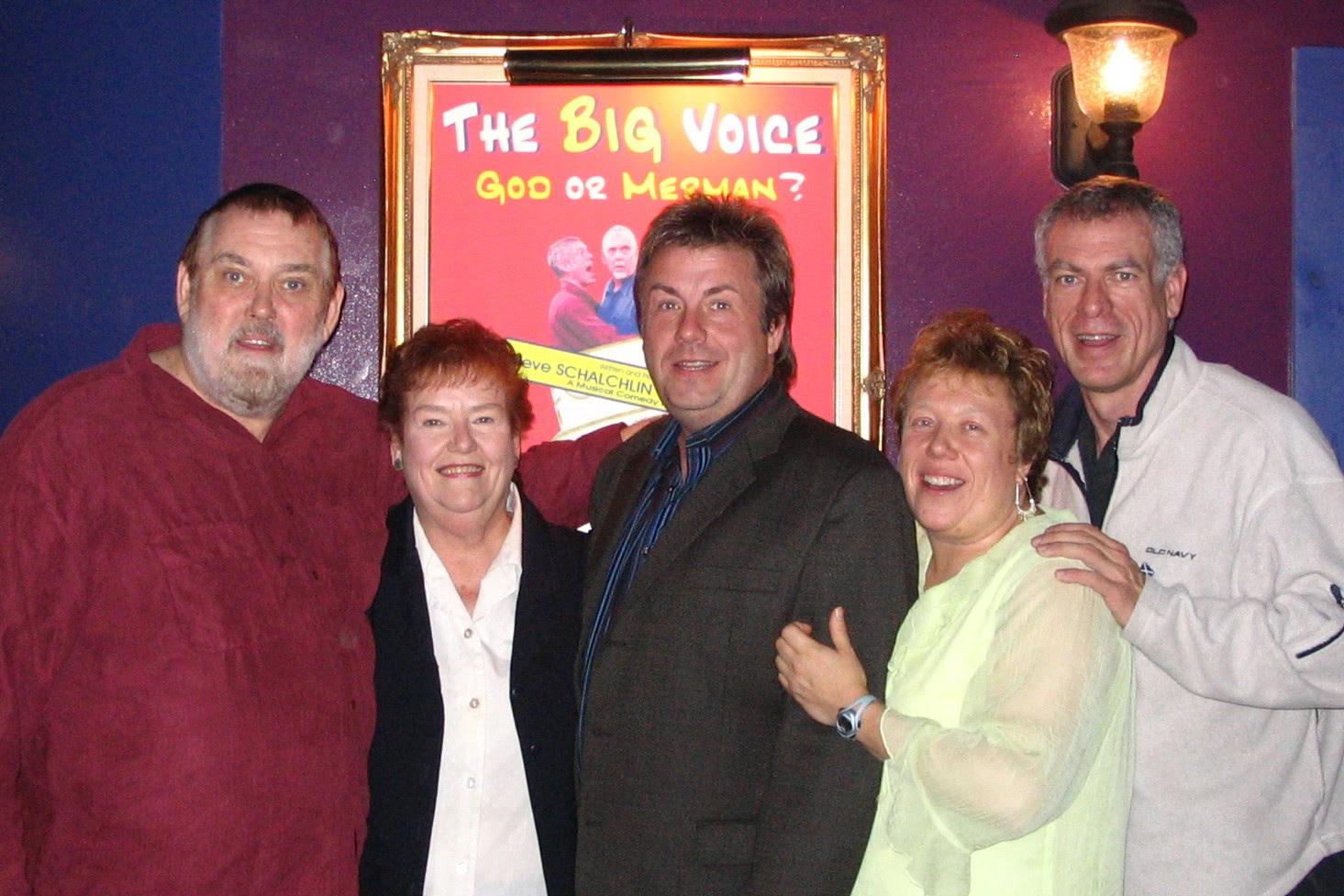 Jim, Janet, Brett, Karen and Steve at The Big Voice: God or Merman
