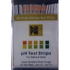 pH test                       strips.