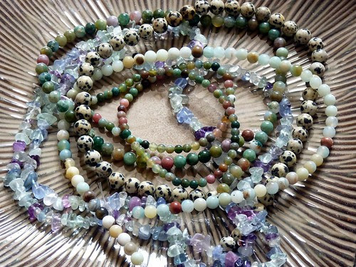 Amazonite, Fancy Jasper, Fluorite and Dalmation Jasper