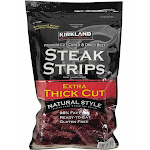 Kirkland Signature Steak Strips, 12-Ounces, Extra Thick Cut