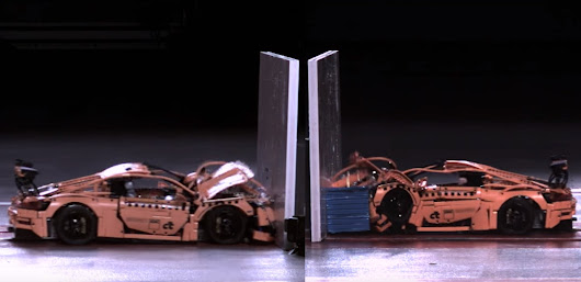 Watch a Lego Porsche 911 GT3 Crash Test, Try Not to Cringe
