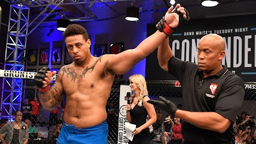 Former NFL player turned MMA fighter Greg Hardy suffered a knee injury in an arena football game Saturday...