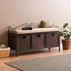 Adrien Collection Entryway Storage Bench at Brookstone—Buy Now!