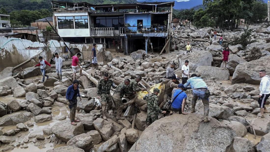 Image result for colombian mudslides