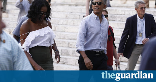 Trump debuts in Europe as Obama returns to stir nostalgia for the old days | US news | The Guardian