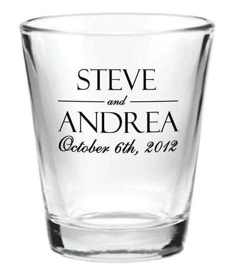 144 Personalized 1.5oz Wedding Favor Glass Shot Glasses