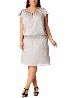 Women's Plus: Women's Plus Crinkle-Chiffon Keyhole Dresses - Dove