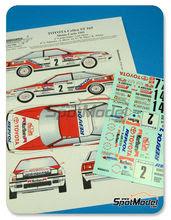 Calcas 1/24 Renaissance Models - Toyota Celica GT Four ST165 Group A Marlboro - Nº 2, 7, 14 - Carlos Sainz + Luis Moya, Schwarz + Hertz, Duez + Wicha - Rally de Montecarlo 1991 para kit de Aoshima AOSH-081198