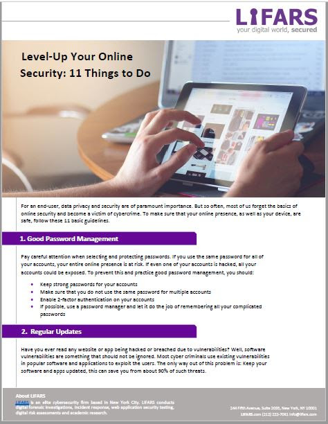 Level-Up Your Online Security: 11 Things to do