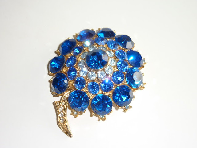 Blue Vintage Brooch