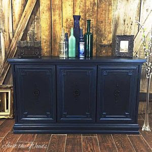 Vintage Blue Buffet by Just the Woods