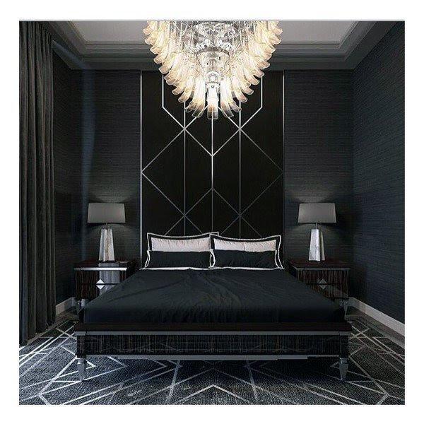 Top 50 Best Black Bedroom Design Ideas - Dark Interior Walls