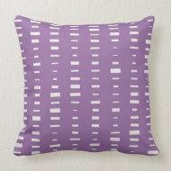 Purple Block Stripe Pillow throwpillow