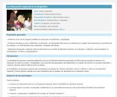 La educación especial en la Argentina