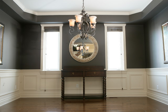 Chair Rail - Applique-Columns - Traditional - Dining Room ...