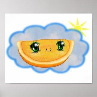 Sunny Orange Canvas Print print