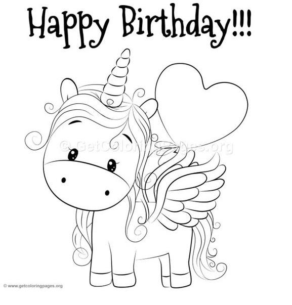 Printable Happy Birthday Unicorn Coloring Pages - Berbagi ...