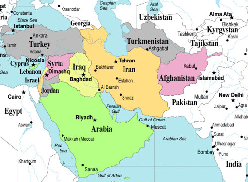 east asia map quiz. Map quiz, SW Asia: