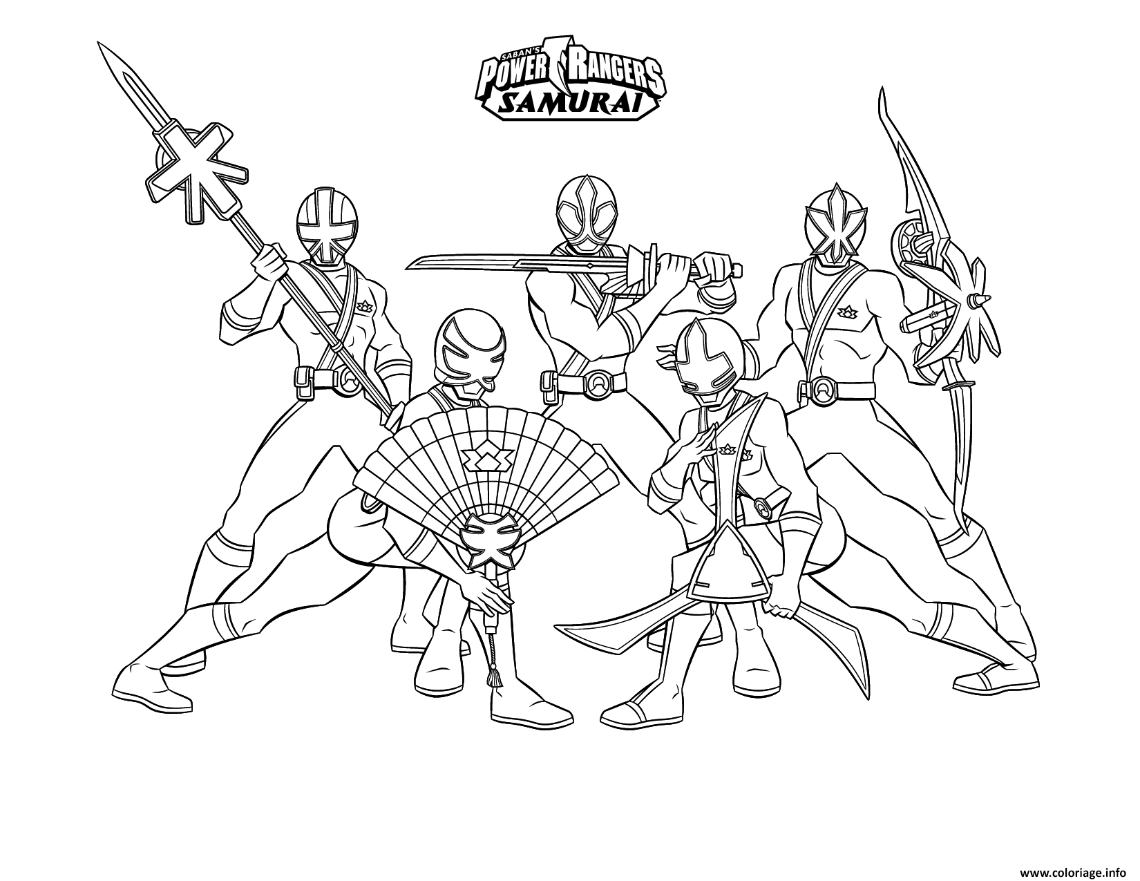 Unique Coloriage Powers Rangers Samurai A Imprimer