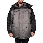 Freeze Defense Men's 3in1 Winter Jacket Coat Parka & Reversible Vest (Small, Light Gray)