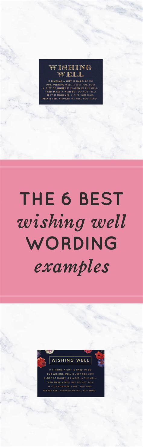 The 6 Best Wishing Well Wording Examples   Wishing Well