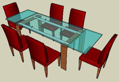 sketchup components 3d warehouse Furniture: Dining Table ...