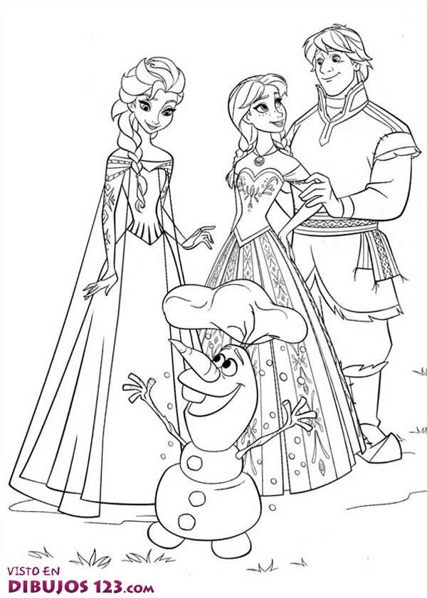 Dibujos Para Colorear De Frozen Anna Y Elsa