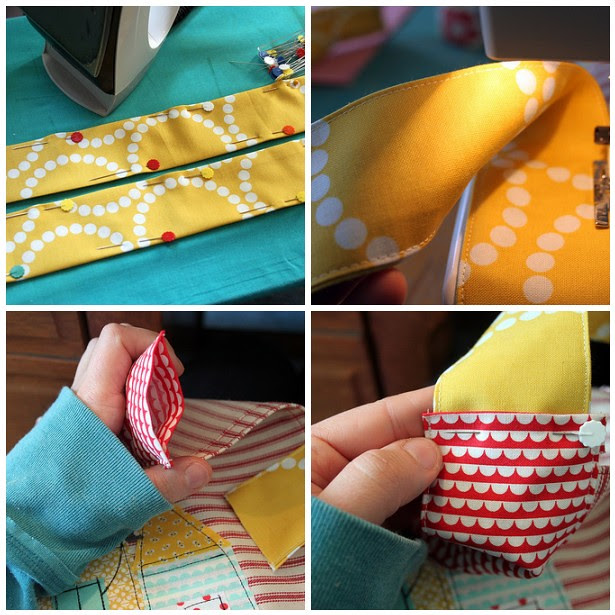 making and adding apron ties