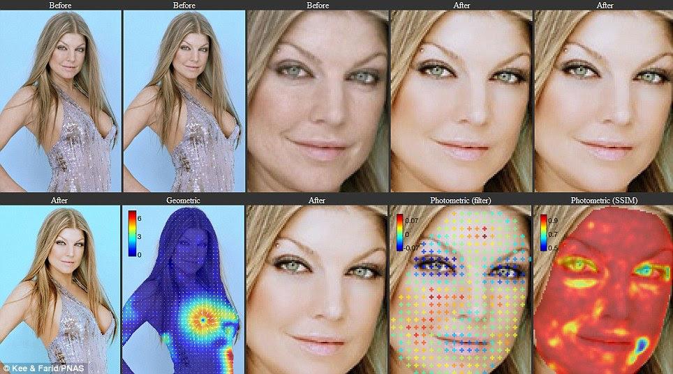 Photoshopped Fergie: Novo software afirma ser capaz de identificar onde - e quanto - uma imagem foi retocada