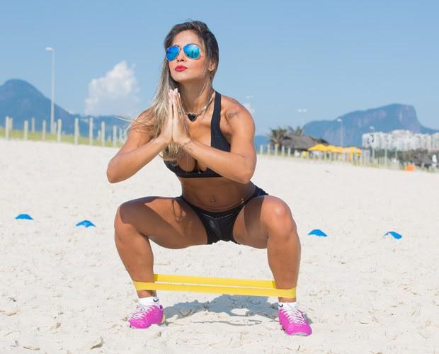 Os exercícios são bons para resistência e queima de gordura (Foto: André Furtado)