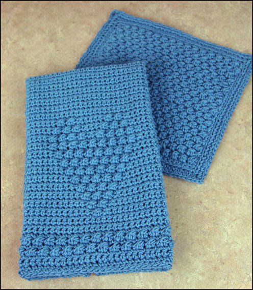 Blueberry Dishcloth and Heartfelt Towel
