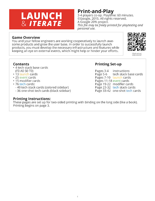 Google Students - Launch & Iterate, print-and-play - Page 1 - Created with Publitas.com